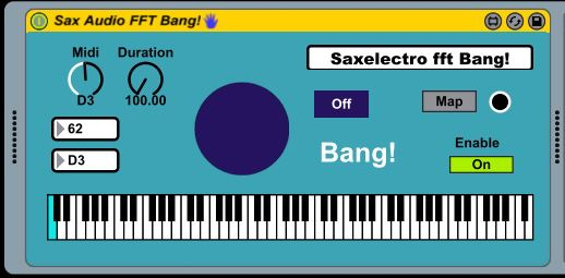 sax audio fft bang!